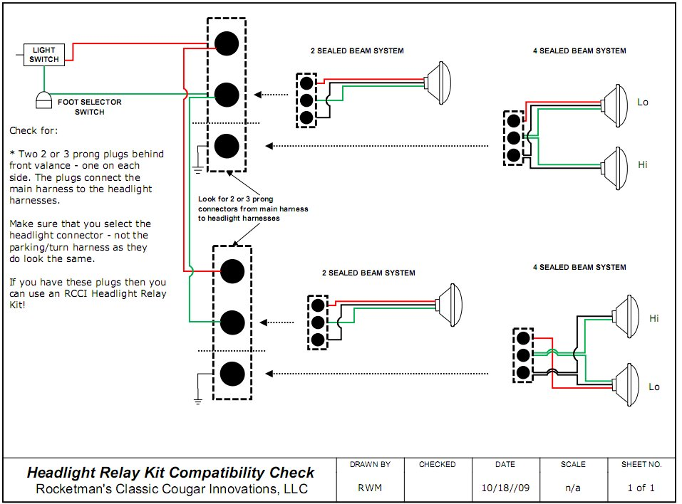 RelayTest rocketman's classic cougar innovations headlight sealed beam wiring diagram at bayanpartner.co